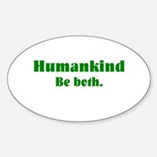 Human Kind Oval Decal