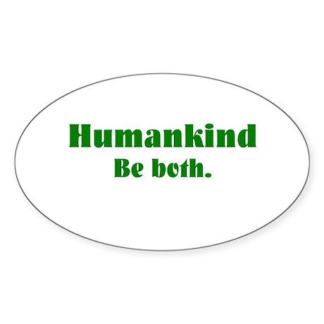 Human Kind Oval Sticker