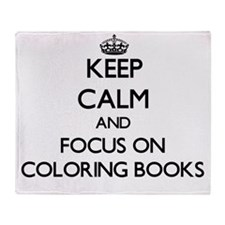 Funny Coloring books Throw Blanket