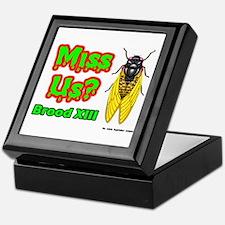 Miss Us Cicada Keepsake Box