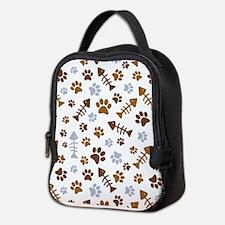 Cat Paw Prints Pattern Neoprene Lunch Bag