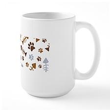 Cat Paw Prints Pattern Mug