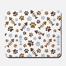 Cat Paw Prints Pattern Mousepad