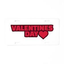 Valentine's day heart Aluminum License Plate