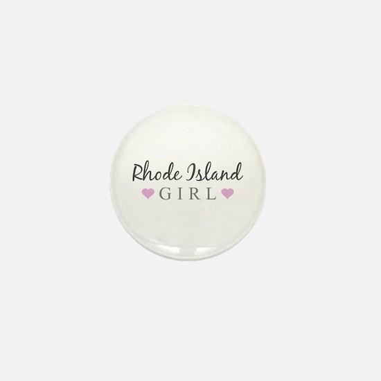 Rhode Island Girl Mini Button