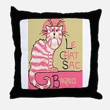 Unique Chat Throw Pillow