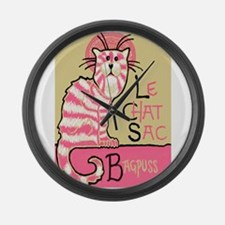 Cute Chat Large Wall Clock