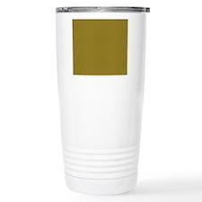 Gold and Mustard Tartan Travel Mug