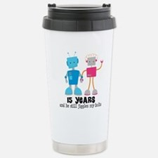 15 Year Anniversary Robot Couple Stainless Steel T