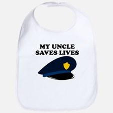 My Uncle Saves Lives Police Bib