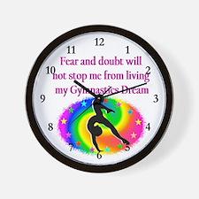 INSPIRING GYMNAST Wall Clock