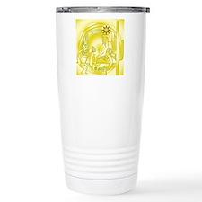 Kokopelli Cactus Gold # Travel Coffee Mug
