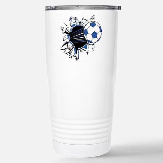 Soccer Stainless Steel Travel Mug