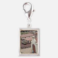 Miniature model park depicti Silver Portrait Charm