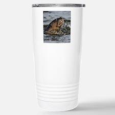 River Otter Eating a Fi Travel Mug