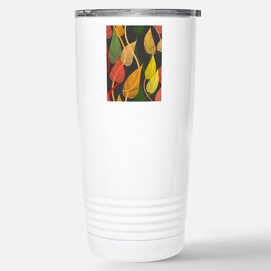 Autumn Leaves Stainless Steel Travel Mug