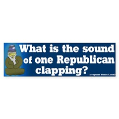 One Republican Clapping Bumper Bumper Sticker