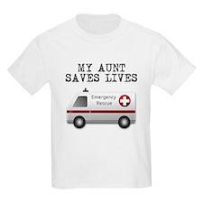 My Aunt Saves Lives Ambulance T-Shirt