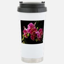 Magenta Orchids in Bloo Travel Mug