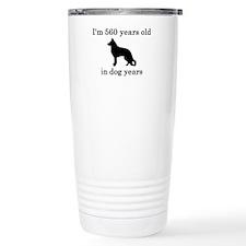 80 birthday dog years german shepherd black Stainl