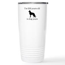 90 birthday dog years german shepherd black Stainl