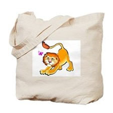 LION AND BUTTERFLY Tote Bag