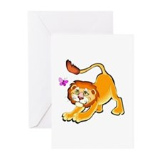 LION AND BUTTERFLY Greeting Cards (Pk of 10)