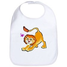 LION AND BUTTERFLY Bib