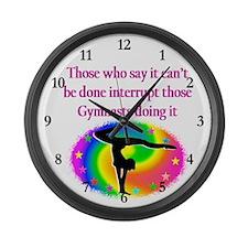 INSPIRING GYMNAST Large Wall Clock