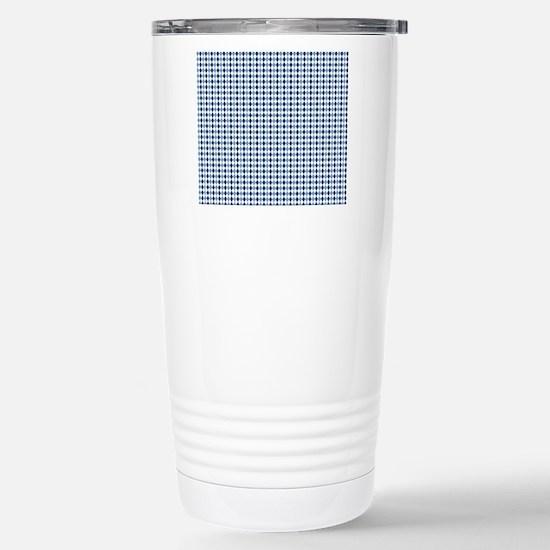 UNC Argyle Carolina Blu Stainless Steel Travel Mug