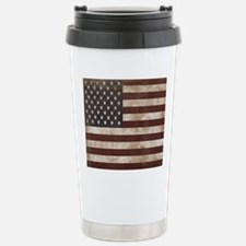 Vintage American Flag K Stainless Steel Travel Mug