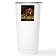 The Girl and the RObot  Travel Coffee Mug