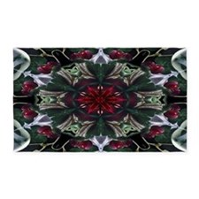 Christmas Berry Wreath 3'x5' Area Rug