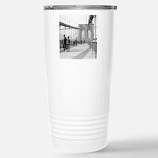 Brooklyn Bridge Pedestr Stainless Steel Travel Mug