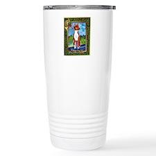 Basenji Dog Christmas Travel Coffee Mug