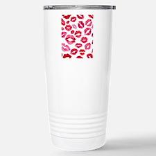 Lipstick Prints Stainless Steel Travel Mug