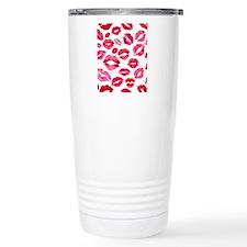 Lipstick Prints Travel Mug