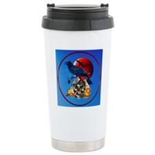 Raven and Red Moon Travel Mug