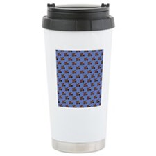 Cute Angry Brown Dog on Travel Mug
