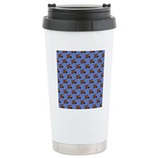 Cute Angry Brown Dog on Travel Coffee Mug
