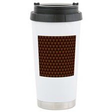 Abstract Brown and Gold Travel Mug
