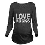 LOVE ROCKS Long Sleeve Maternity T-Shirt