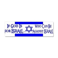 Cute Israel support Car Magnet 10 x 3
