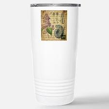 vintage purple lilac se Travel Mug