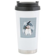 Stovepipe Hat Snowman 2 Travel Mug