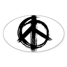Peace sign - black Decal
