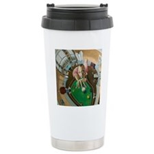 Skewed Pool Travel Coffee Mug