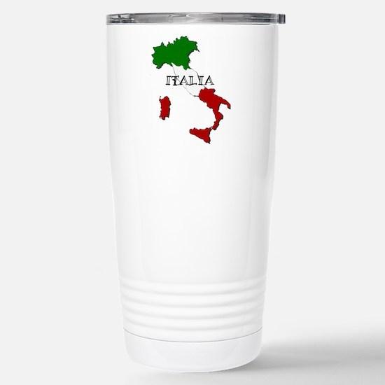 Italy Flag Map Stainless Steel Travel Mug