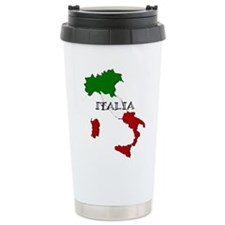 Italy Flag Map Travel Mug