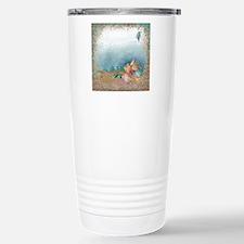 Beach sparkles with sea Travel Mug